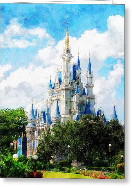 Cinderella Castle Greeting Card by Sandy MacGowan