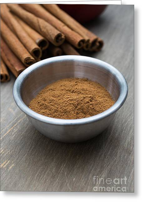 Spice Greeting Cards - Cinnamon Spice Greeting Card by Edward Fielding