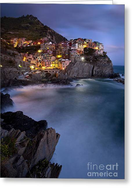 Precarious Greeting Cards - Cinque Terre Greeting Card by Brian Jannsen