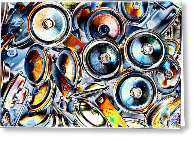 Textile Photographs Greeting Cards - Circles Greeting Card by Sylvia Thornton