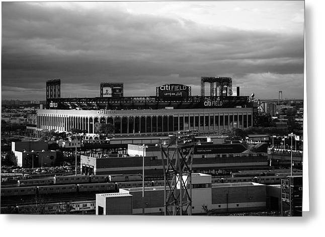 Citifield Greeting Cards - Citi Field - New York Mets Greeting Card by Frank Romeo