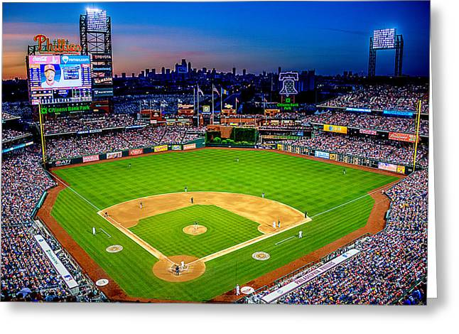 Citizens Bank Park Greeting Card by JD Ollis