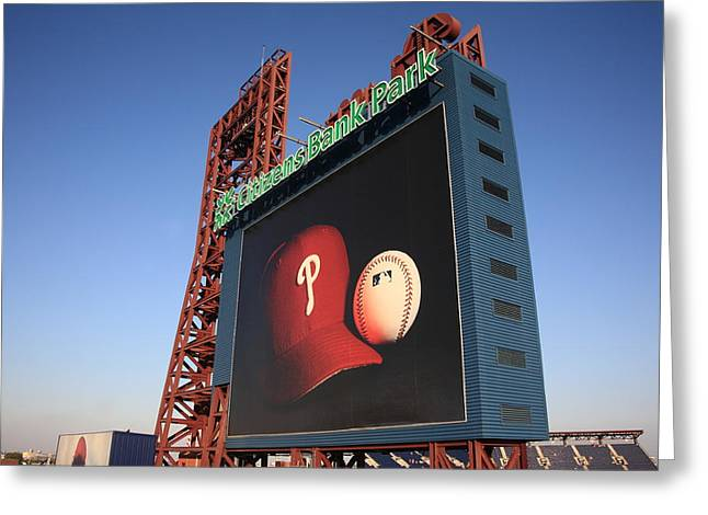 Veterans Stadium Greeting Cards - Citizens Bank Park - Philadelphia Phillies Greeting Card by Frank Romeo