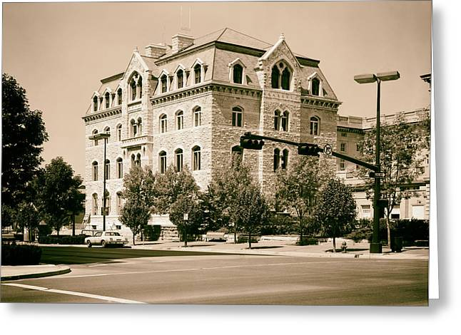1980s Greeting Cards - City Hall - Lincoln Nebraska 1981 Greeting Card by Mountain Dreams