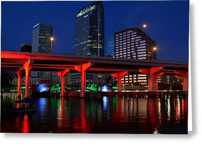 Florida Bridge Greeting Cards - City of color Greeting Card by David Lee Thompson