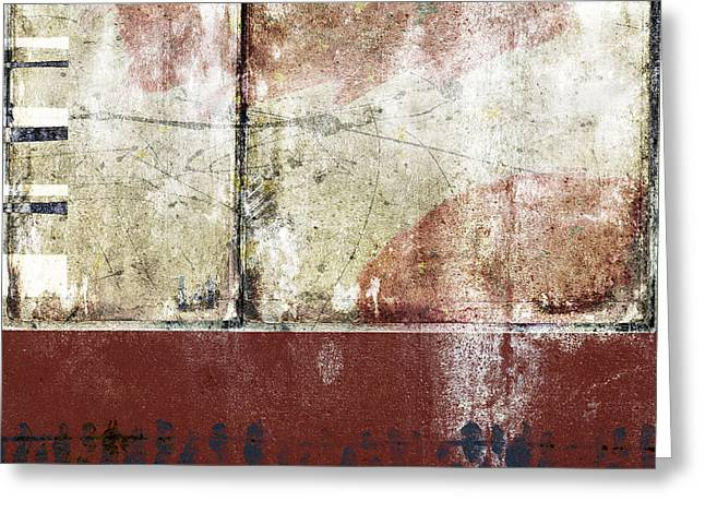 Grungy Greeting Cards - City Sidewalks Greeting Card by Carol Leigh