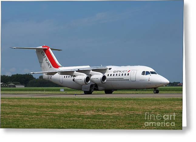 Cityjet British Aerospace Avro Rj85 Greeting Card by Paul Fearn
