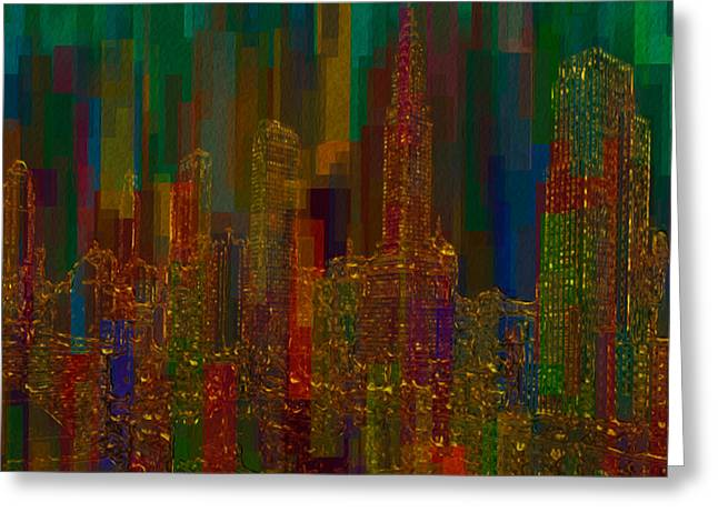 Rectangles Greeting Cards - Cityscape 5 Greeting Card by Jack Zulli
