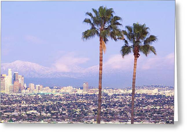 Sprawl Greeting Cards - Cityscape, Los Angeles, California, Usa Greeting Card by Panoramic Images