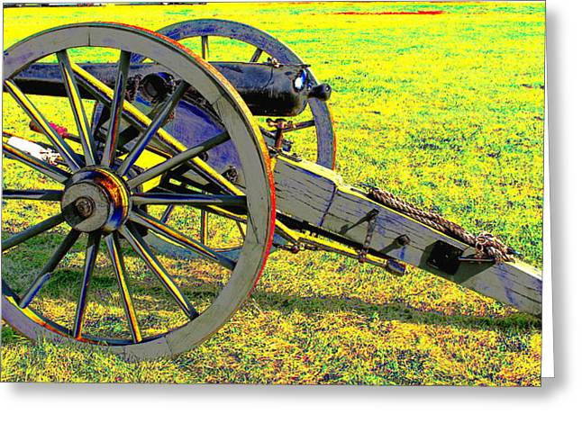 Historical Re-enactments Digital Art Greeting Cards - Civil War Canon by Earls Photography Greeting Card by Earl  Eells a