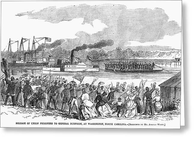 Civil War Prisoners, 1862 Greeting Card by Granger