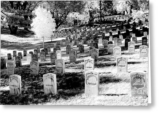Arlington Greeting Cards - Civilian Section  Greeting Card by Paul W Faust -  Impressions of Light