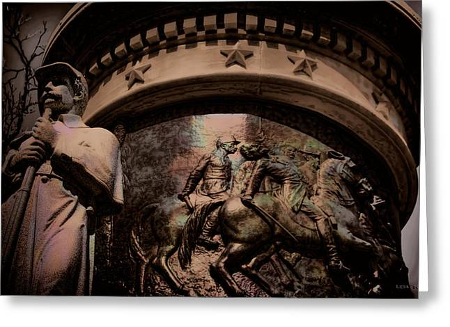 Confederate Monument Digital Art Greeting Cards - Clarity of War I Greeting Card by Lesa Fine