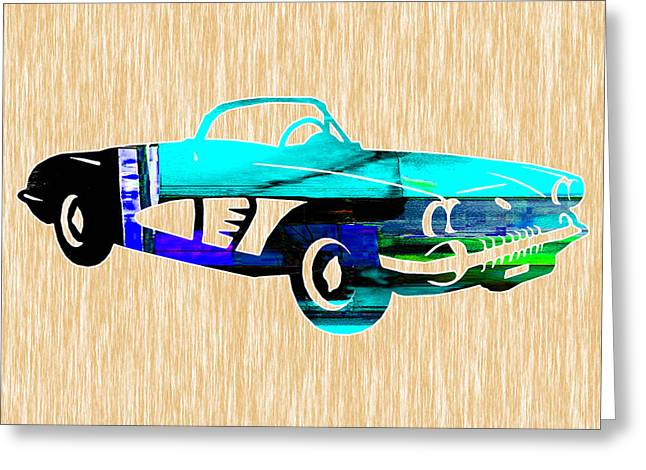 Classic Car Greeting Cards - Classic Corvette Greeting Card by Marvin Blaine