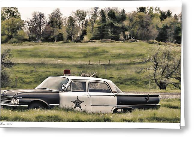 Best Sellers -  - Police Cruiser Greeting Cards - Classic Cruiser Greeting Card by Richard Bean