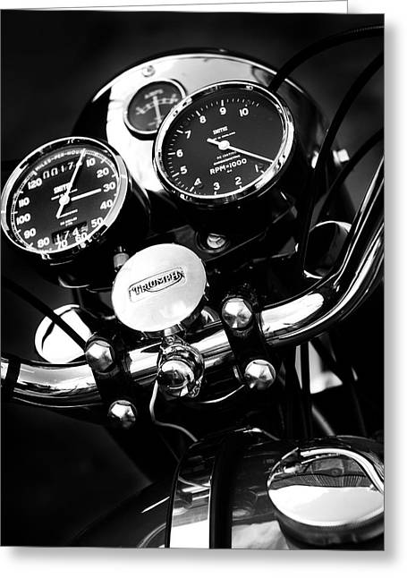 Motorcycles Greeting Cards - Classic Triumph Greeting Card by Mark Rogan