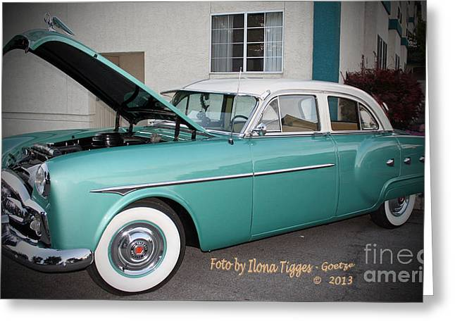 Shower Curtain Greeting Cards - Classic US Car Greeting Card by  ILONA ANITA TIGGES - GOETZE  ART and Photography