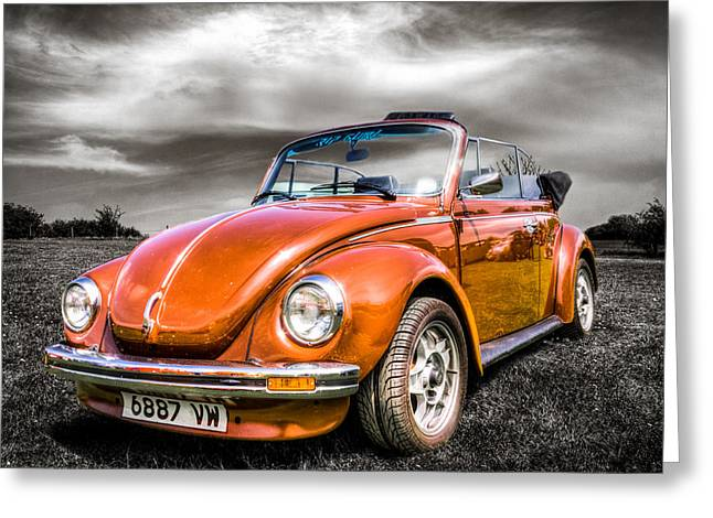 Volkswagen Beetle Greeting Cards - Classic VW Beetle Greeting Card by Ian Hufton