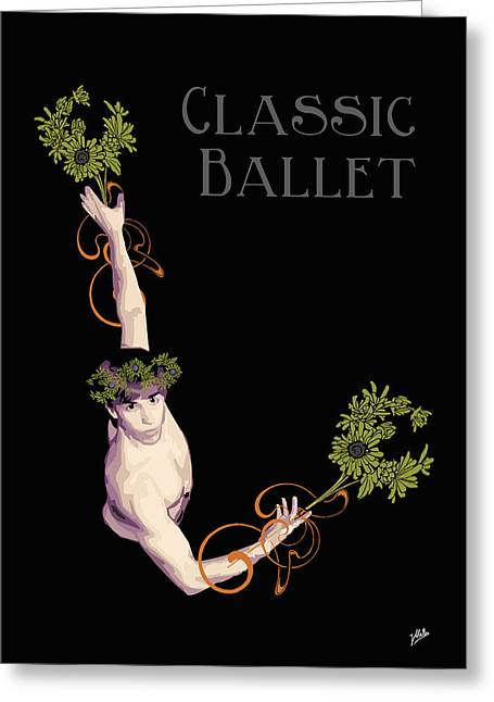 Tasteful Art Digital Art Greeting Cards - Classical Ballet Greeting Card by Joaquin Abella