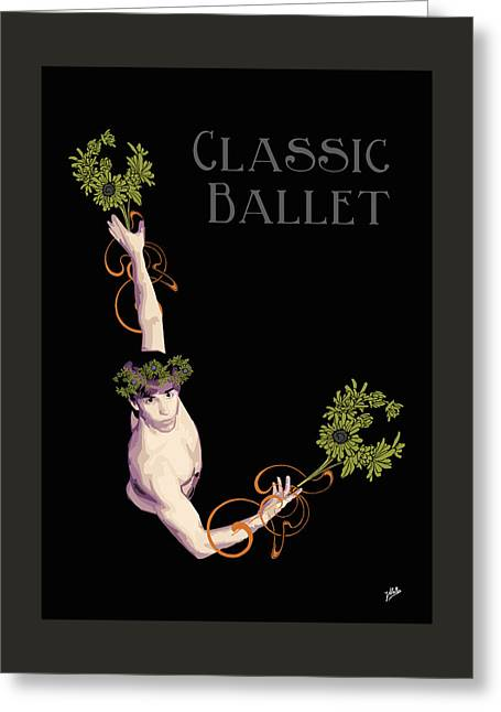 Digital Media Drawings Greeting Cards - Classical Ballet Greeting Card by Quim Abella