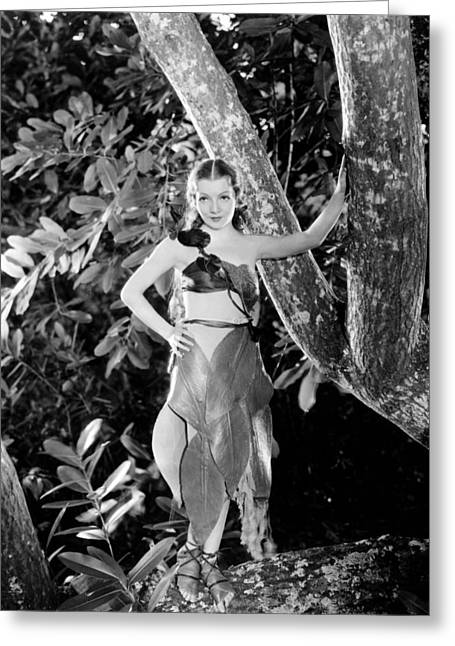 Colbert Greeting Cards - Claudette Colbert Greeting Card by Silver Screen