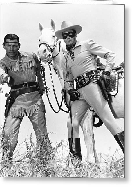 Clayton Photographs Greeting Cards - Clayton Moore Greeting Card by Silver Screen