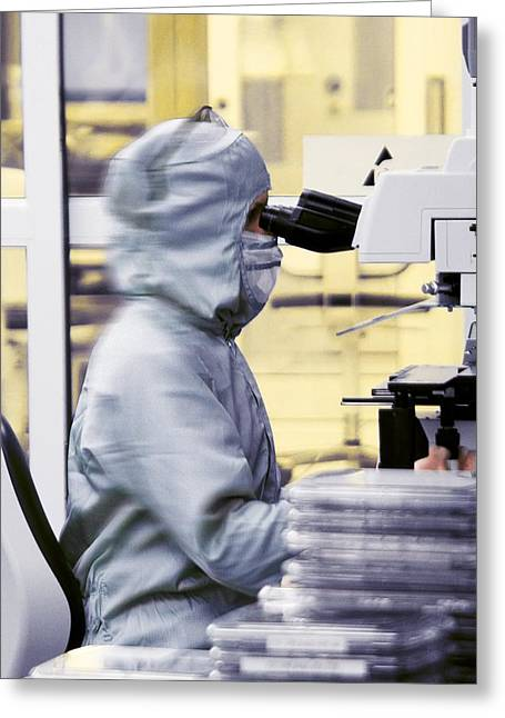 Clean Room Greeting Cards - Cleanroom Greeting Card by Science Photo Library