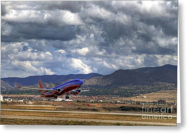 Cleared For Departure Greeting Card by Eddie Yerkish