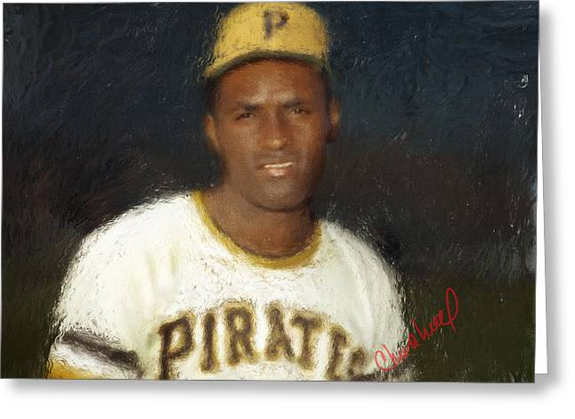 Roberto Greeting Cards - Clemente Greeting Card by Thomas Churchwell