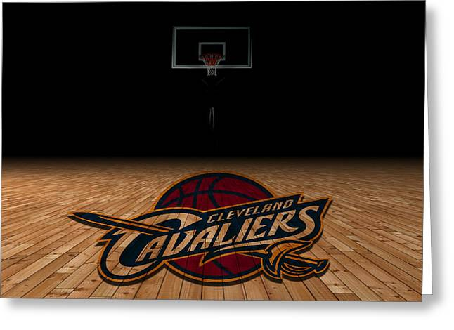 Team Greeting Cards - Cleveland Cavaliers Greeting Card by Joe Hamilton