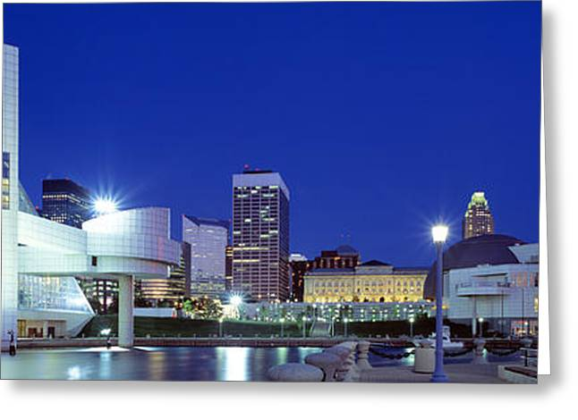 City Buildings Greeting Cards - Cleveland, Ohio, Usa Greeting Card by Panoramic Images