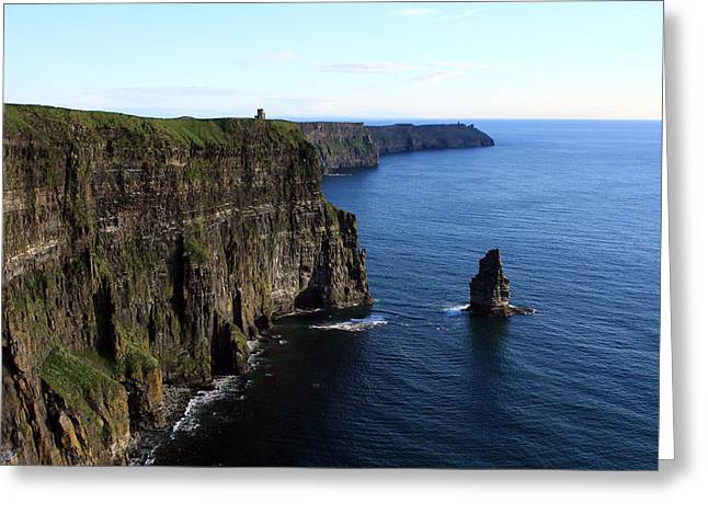 Most Photographs Greeting Cards - Cliffs of Moher Greeting Card by Aidan Moran