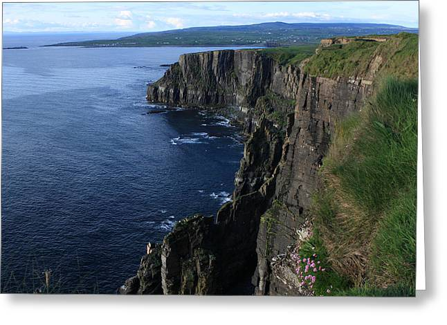 Most Visited Greeting Cards - Cliffs of Moher - Ireland Greeting Card by Aidan Moran