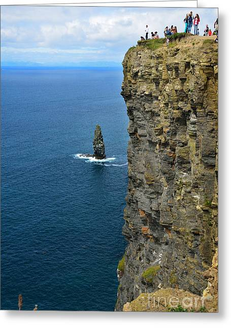 Towering Sea Cliffs Greeting Cards - Cliffs of Moher Greeting Card by RicardMN Photography