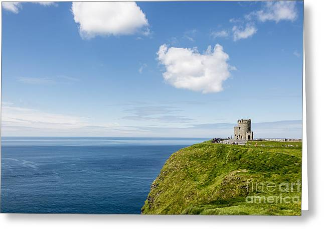 Cliffs Mixed Media Greeting Cards - Cliffs of Moher Greeting Card by Svetlana Sewell