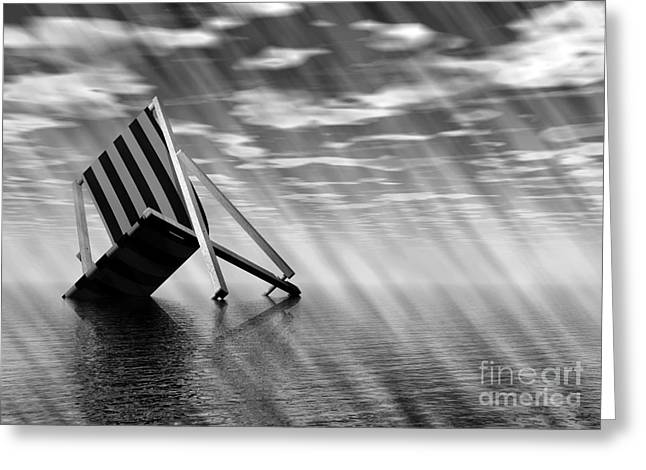 Flooding Greeting Cards - Climate Change, Conceptual Artwork Greeting Card by Victor Habbick Visions