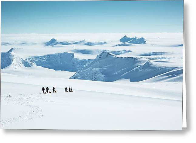 Climbers On Mt Vinson Greeting Card by Peter J. Raymond