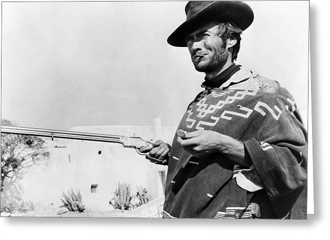 Il Greeting Cards - Clint Eastwood in Il buono, il brutto, il cattivo.  Greeting Card by Silver Screen