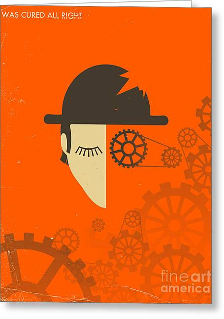 Art Book Greeting Cards - Clockwork Orange Greeting Card by Jazzberry Blue