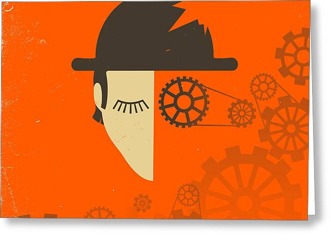 CLOCKWORK ORANGE Greeting Card by Jazzberry Blue
