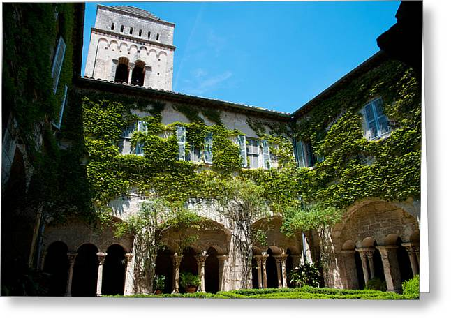 Saint-remy De Provence Greeting Cards - Cloister Of Ancient Monastere Greeting Card by Panoramic Images