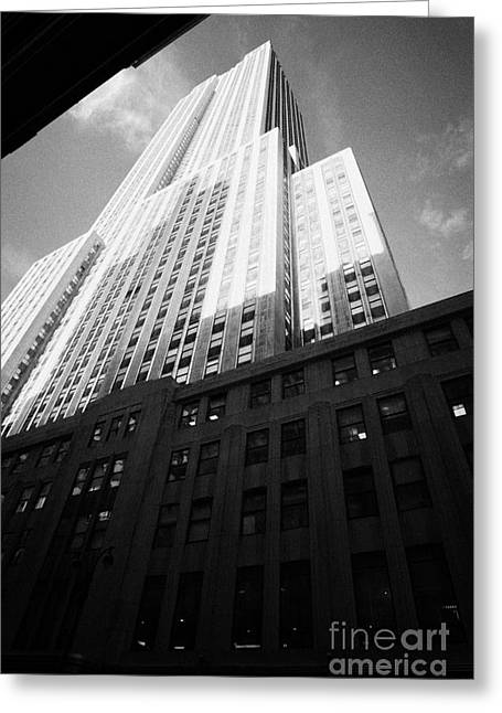 Manhatan Greeting Cards - Close In Shot Of The Empire State Building New York City Greeting Card by Joe Fox
