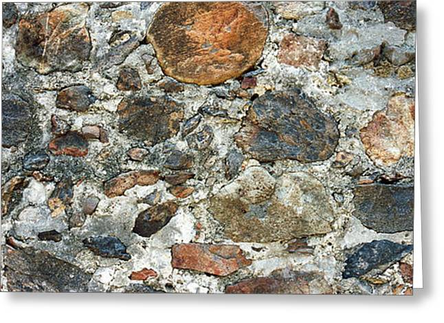 Toughness Greeting Cards - Close-up Of A Stone Wall, St. John, Us Greeting Card by Panoramic Images