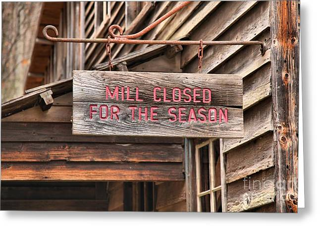 Wooden Building Greeting Cards - Closed For The Season Greeting Card by Adam Jewell