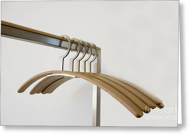 Coat Hanger Greeting Cards - Clothes hangers Greeting Card by Mats Silvan