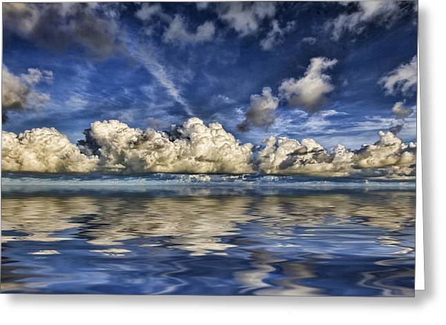Ocean. Reflection Greeting Cards - Cloud Reflections Greeting Card by Douglas Barnard
