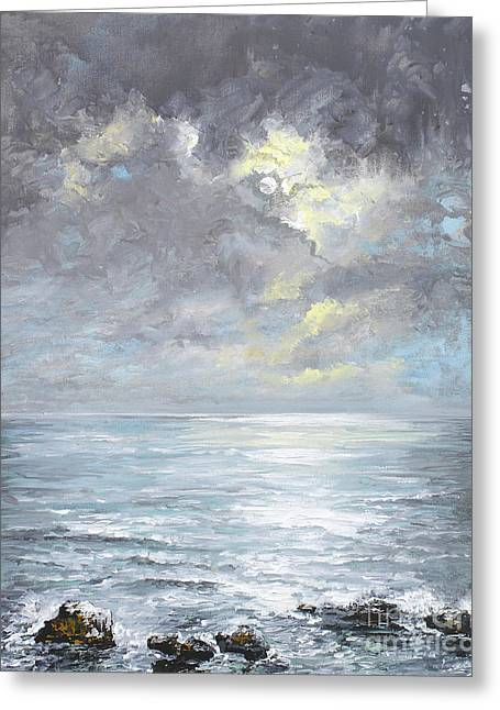 Sun Breaking Through Clouds Greeting Cards - Cloudburst Greeting Card by Sandra  Francis
