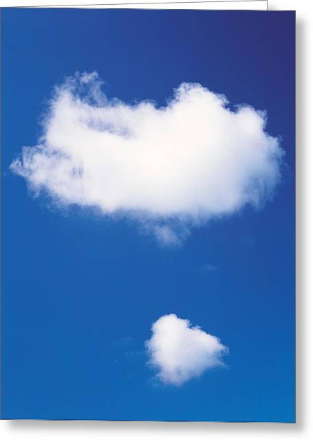 Cumulus Clouds Greeting Cards - Clouds In Blue Sky Greeting Card by Panoramic Images
