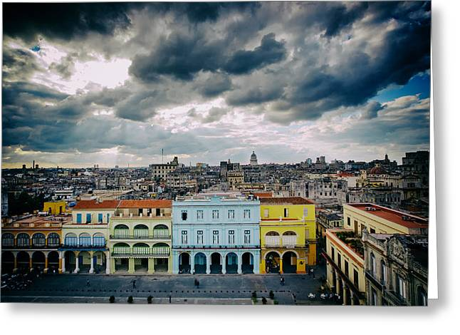Analog Greeting Cards - Clouds over Havana Greeting Card by Mountain Dreams
