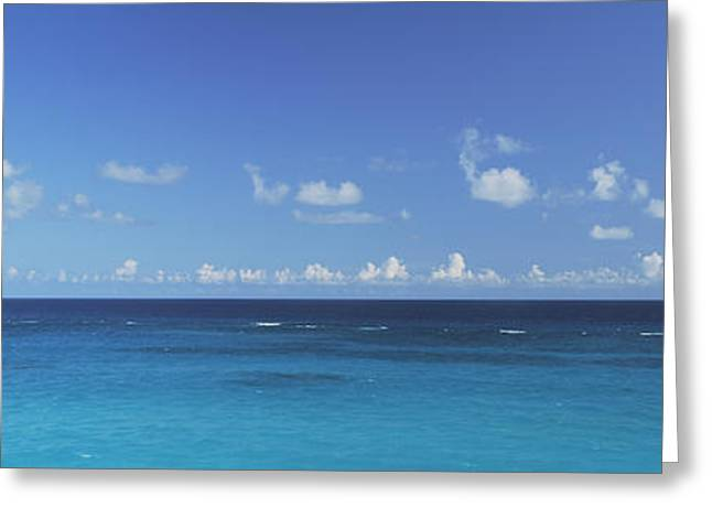 Ocean Images Greeting Cards - Clouds Over The Ocean, Atlantic Ocean Greeting Card by Panoramic Images